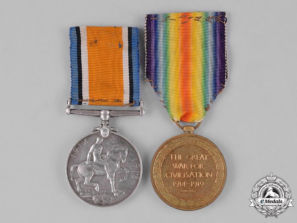United Kingdom. A First War Pair, to Air Mechanic First Class G.A. Wilson, Royal Air Force