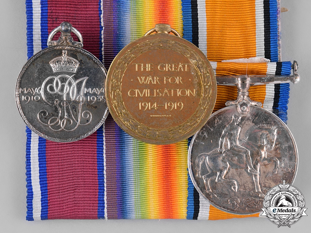 United Kingdom. A First War Trio, to Acting Corporal William C. MacDonald, Army Service Corps
