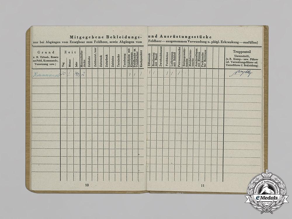 "Germany, SS. The Soldbuch Of Hungarian Volunteer Ferencz Kelemen, SS Division ""  Hunyadi"""