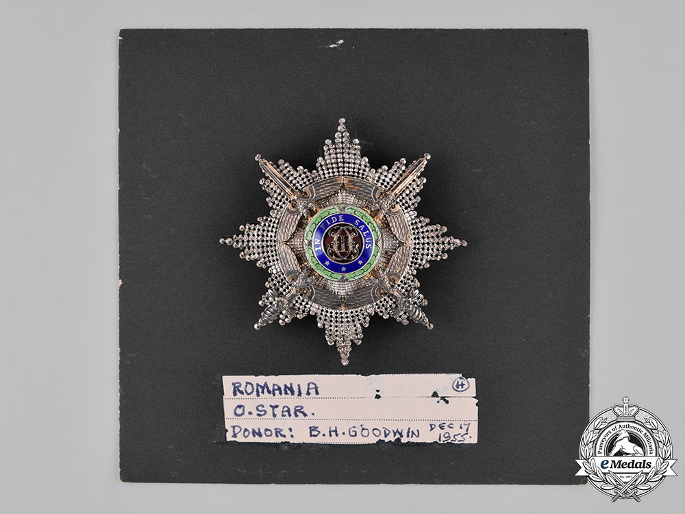 Romania, Kingdom. An Order of the Star, Grand Officer's Star, by Resch & Fils, c.1940