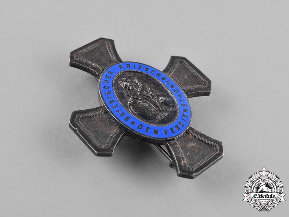 Germany, Weimar. A Bavarian War Veterans Organization Federal Honour Cross by Deschler & Sohn