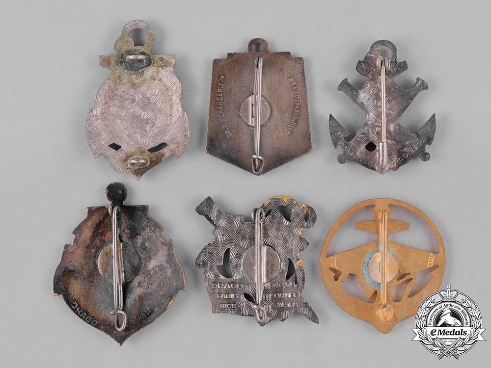 France, Republic. Sixteen Naval Service Insignia Badges