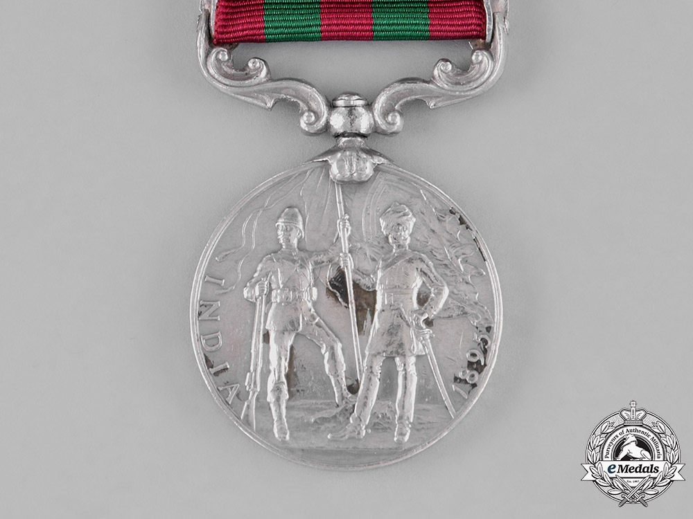 Great Britain. India Medal 1895-1902, to Sepoy Sahil Singh, 35th Sikhs