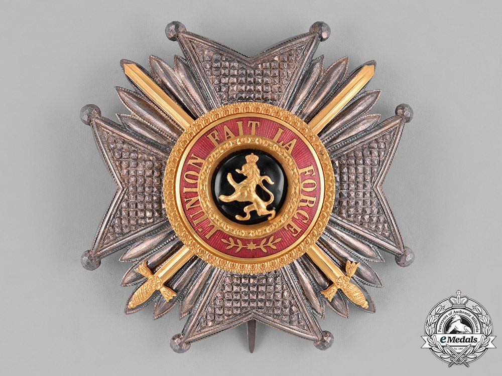 Belgium, Kingdom. An Order of Leopold in Gold, Military Division, Grand Officer's Star, by J.Fonson, c.1900