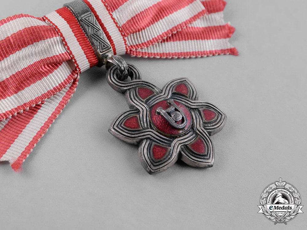 Croatia, Independent State. An Order of Merit, III Class, Ladies Moslem Version, c.1942