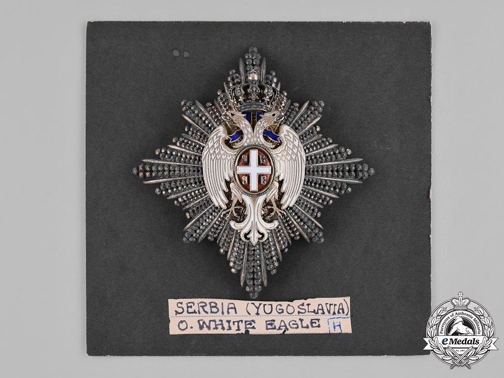 Serbia, Kingdom. An Order of the White Eagle, II Class Grand Officer, by G.A. Scheid, c.1910