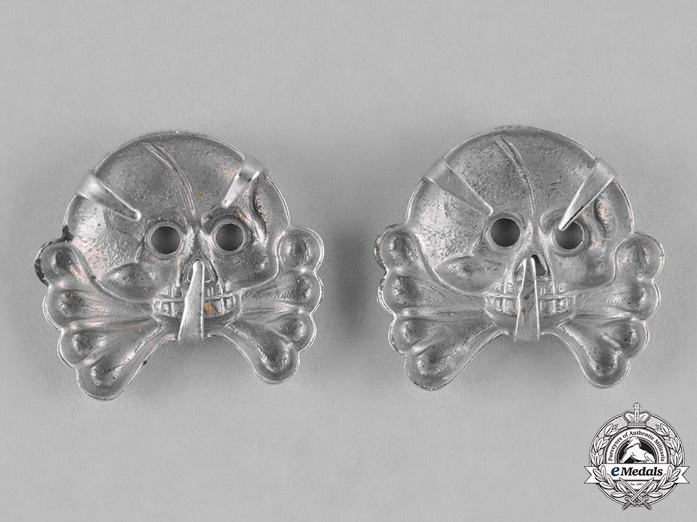 Germany, Heer. A Set of Heer (Army) Panzer Collar Tab Skulls