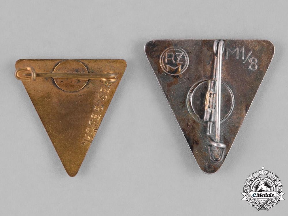 Germany, Third Reich. A Pair of Third Reich Period German Women's Organization Membership Badges