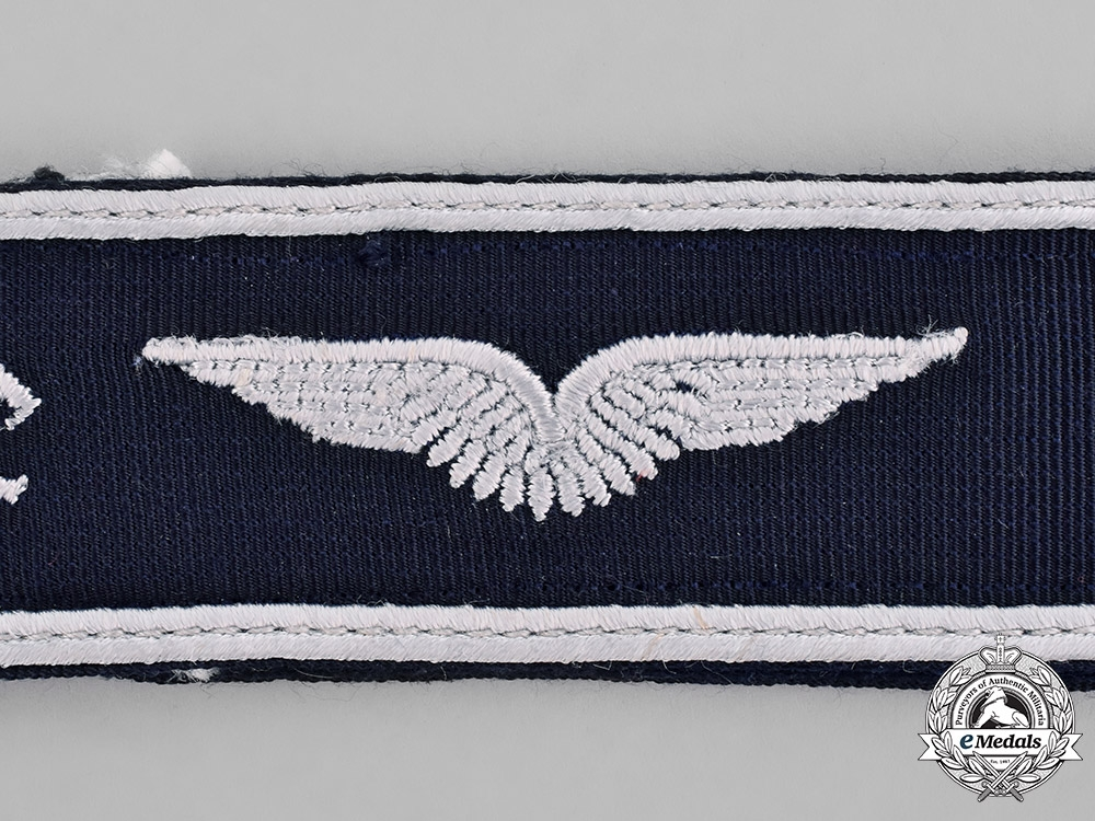 Germany, Luftwaffe. A Luftwaffe Mölders Squadron Cuff Title, 1957 Version