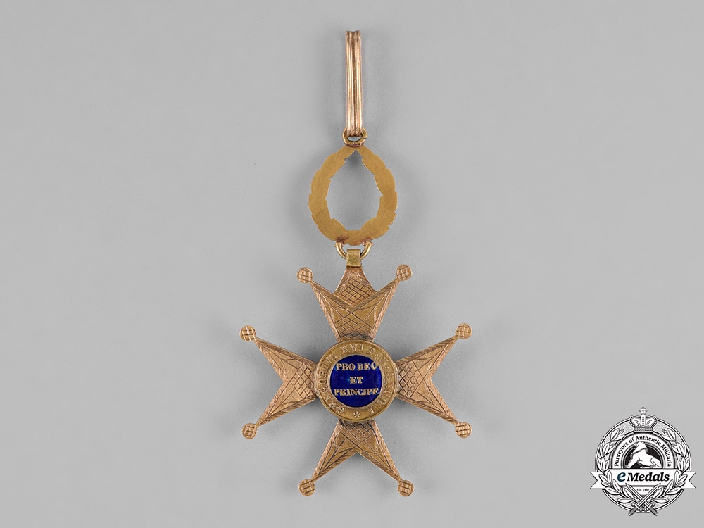 Vatican. An Equestrian Order of St.Gregory the Great in Gold, Commander, c.1865