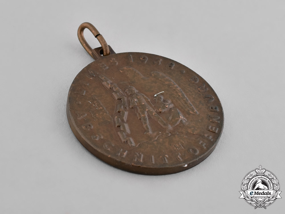 Germany, Third Reich. A Grün und Bilfinger Medal for the Limes Programme, Westwall Construction, 1938