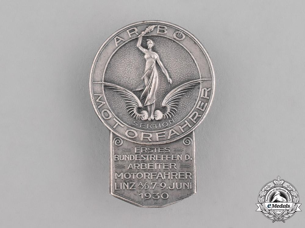 Austria, First Republic. An ARBÖ Motorfahrer Badge by Beha-Werk, 1930