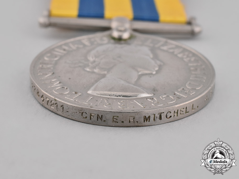 United Kingdom. Korea Medal 1950-1953, to Craftsman E.R. Mitchell, Royal Electrical and Mechanical Engineers
