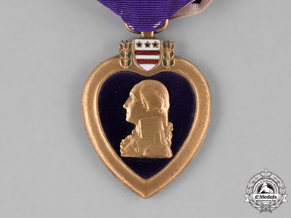 United States. A Purple Heart, 101st Infantry, 26th Division, WIA Meuse-Argonne Offensive