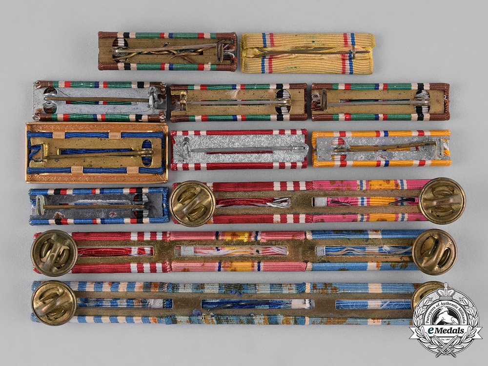 United States. A Lot of Twelve Second War and Korean War Era Ribbon Bars