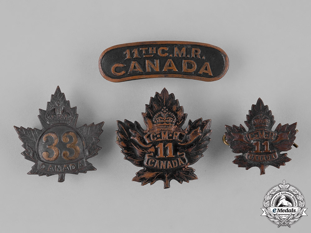 Canada. A Lot of First War Insignia