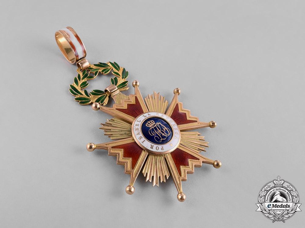 Spain, Kingdom. An Order of Isabella the Catholic in Gold, I Class Commander c.1900