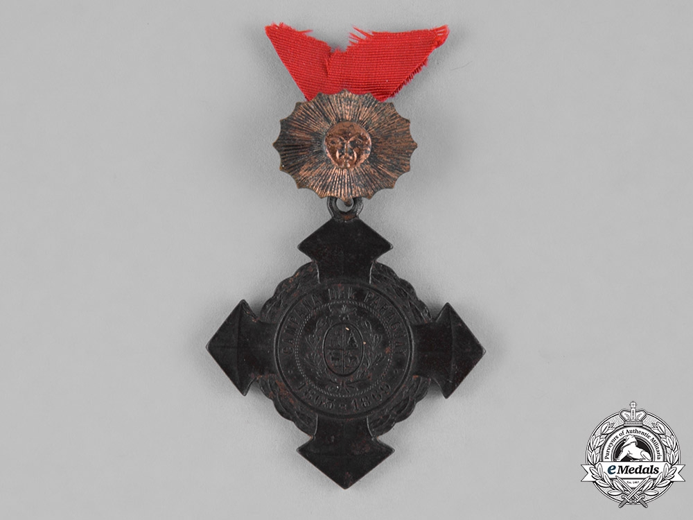 Uruguay, Republic. A Medal for the Allied Army Campaign Against Paraguay 1865-1869 with Bronze Sun, III Class