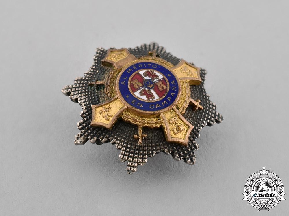Spain, Franco's period. A Miniature War Cross, I Class Cross, c.1950