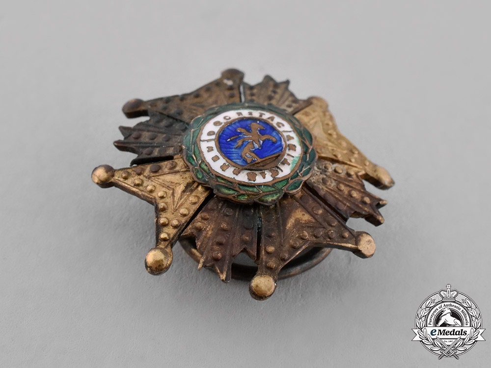 Spain, Kingdom. A Miniature Order of St. Hermenegildo, Commander by Number's Star, c.1870