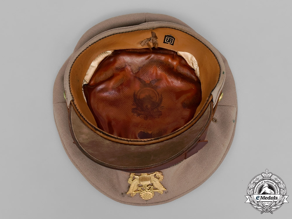 United States, Army. Four Military Helmets and Hats, c.1945