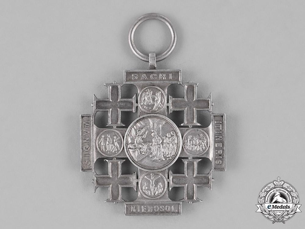 Vatican. A Medal of the Holy Land, Pilgrims Jerusalem Cross of Honour, Silver Grade