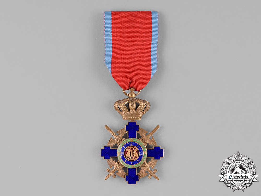 Romania, Kingdom. An Order of the Star of Romania, Knight, Military Division, Type II (1932-1947)