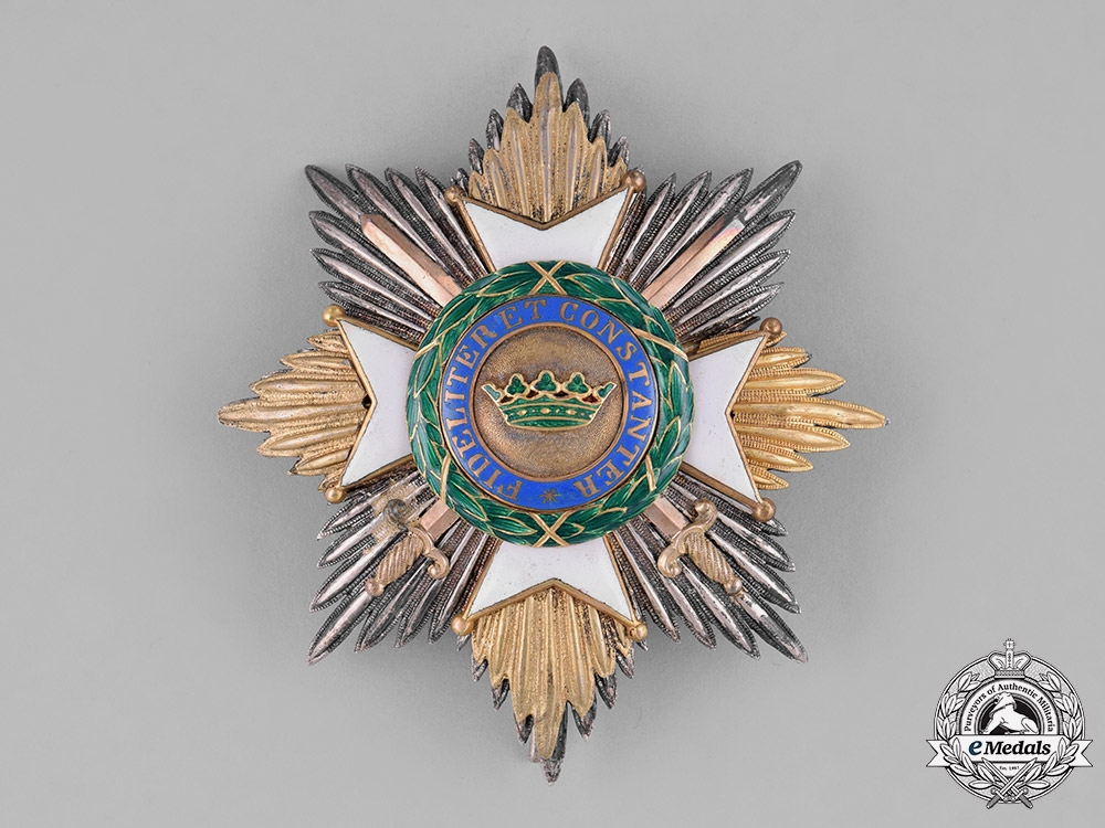 Saxe-Ernestine, Duchy. A Saxe-Ernestine House Order, Grand Cross Star with Swords, c. 1870