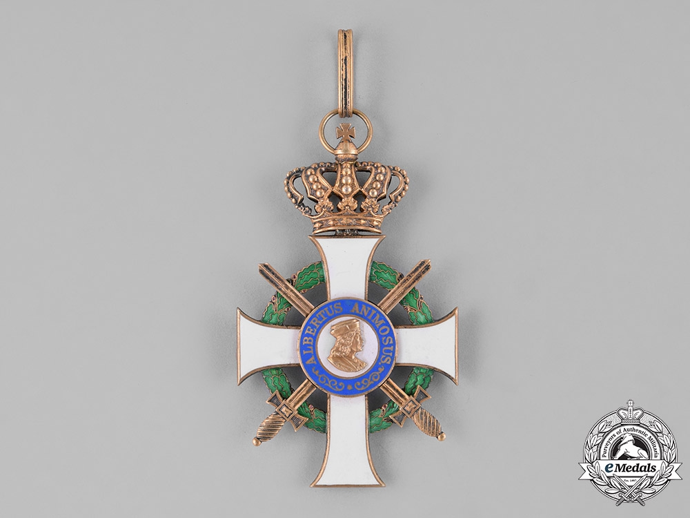 Saxony, Kingdom. An Albrecht Order, Grand Cross with Swords, by Scharffenberg of Dresden, c.1914