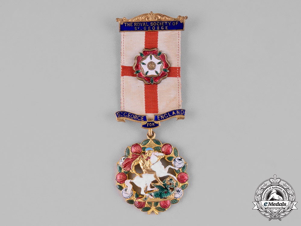 United Kingdom. A Royal Society of St. George Badge