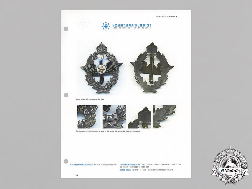 Germany, DMSV. A Model Flight Achievement Badge, Silver Grade