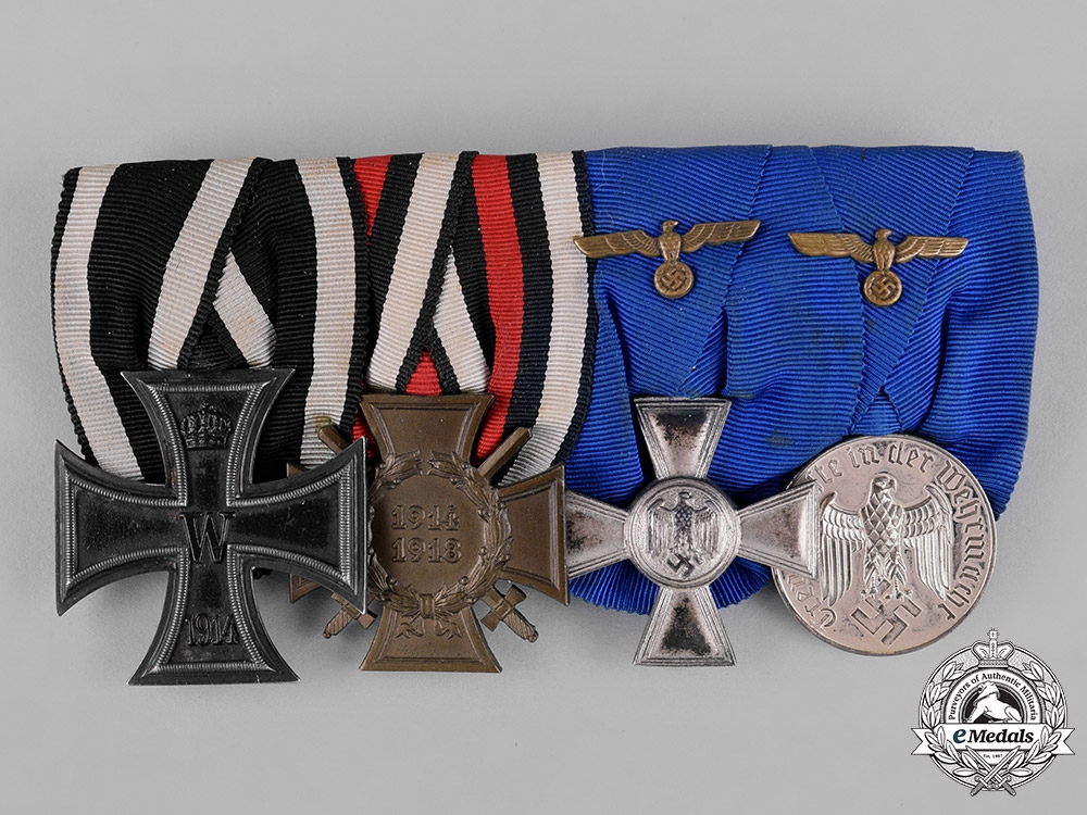 Germany, Wehrmacht. A First and Second War Period Medal Bar