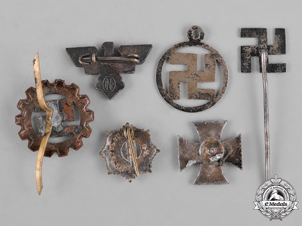 Germany, Third Reich. A Lot of Third Reich Period Insignia Badges