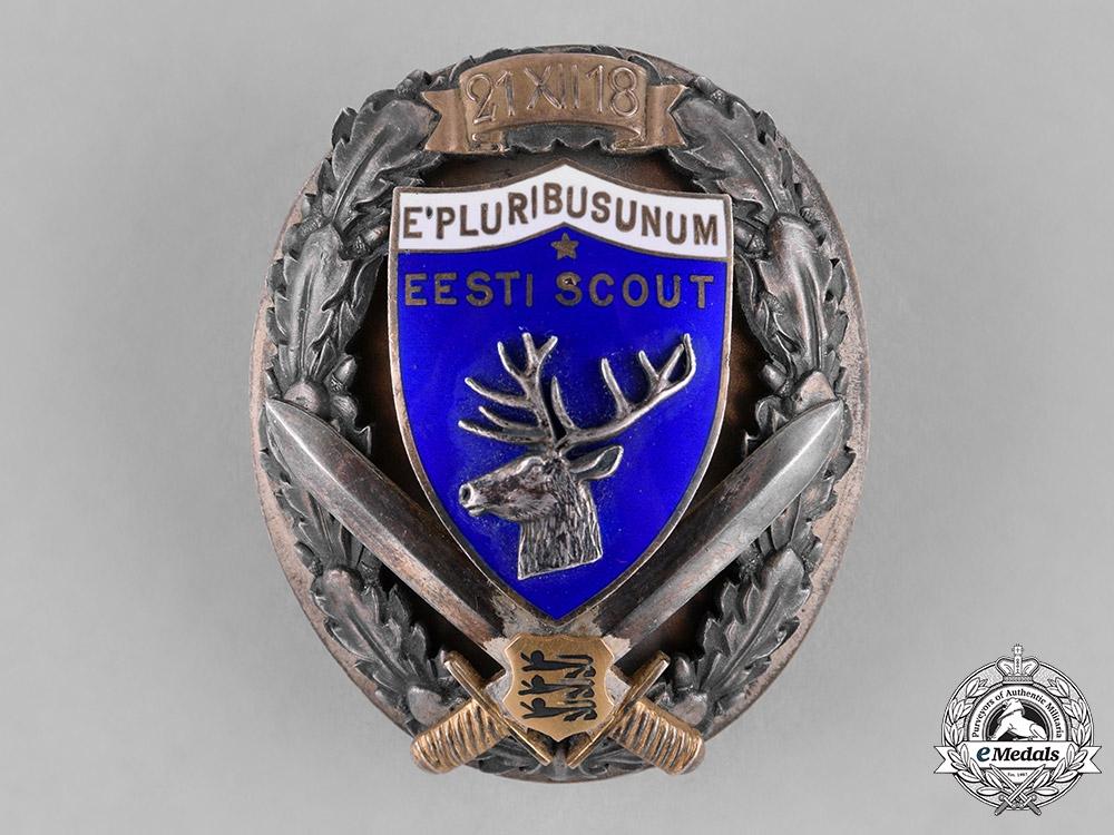 Estonia, Republic.  A Scouts Battalion Badge. by Roman Tavast
