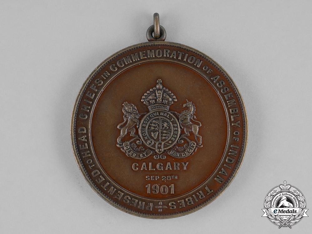 Canada, Dominion. A Visit of Their Royal Highnesses to the of Indian Tribes Assembly Medal 1901