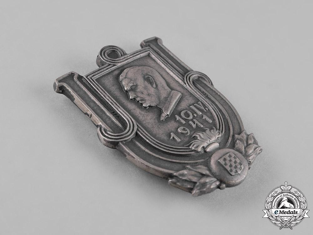 Croatia, Independent State. An Ustasha Member's Badge, c.1941