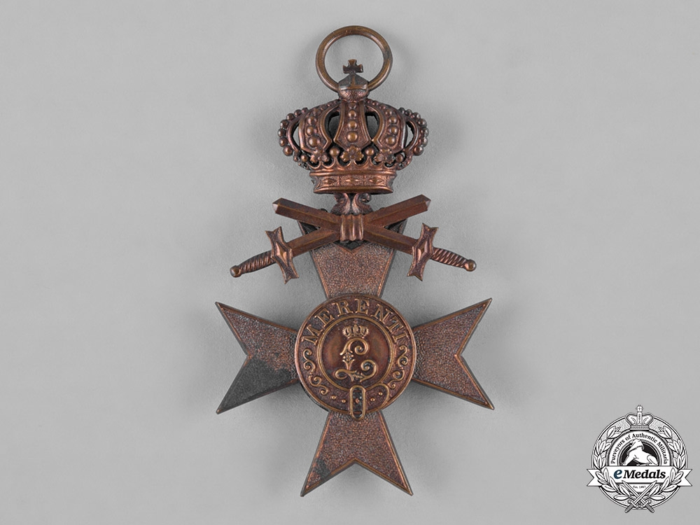 Bavaria, Kingdom. A Military Merit Cross, III Class with Swords & Crown, by Jacob Leser, c.1914