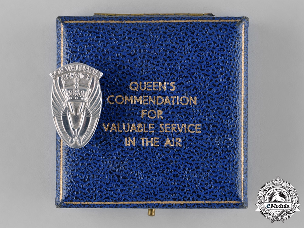 United Kingdom. A Queen's Commendation for Valuable Service in the Air Civilian Badge
