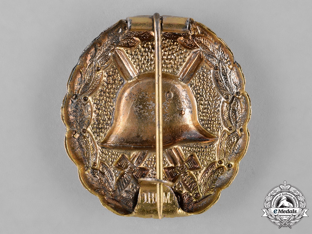 Germany, Imperial. A Gold Grade Wound Badge