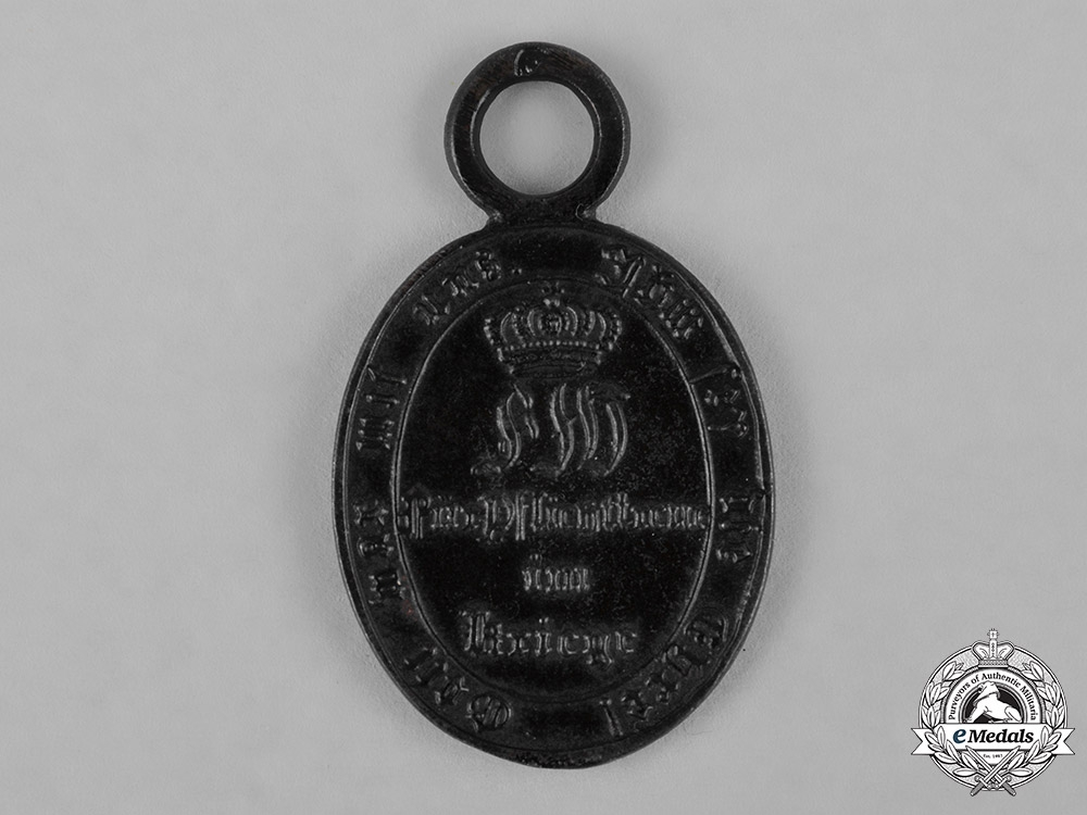 Prussia, Imperial. A Waterloo Campaign Medal for Non-Combatants