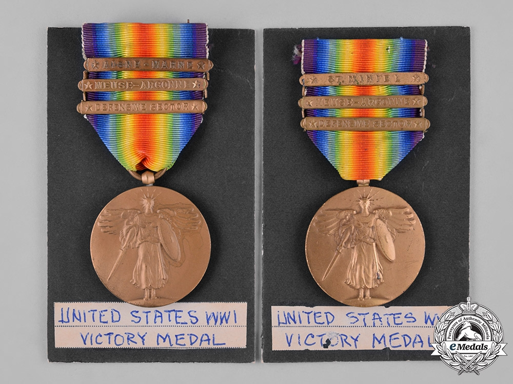 United States. Two First War Victory Medals