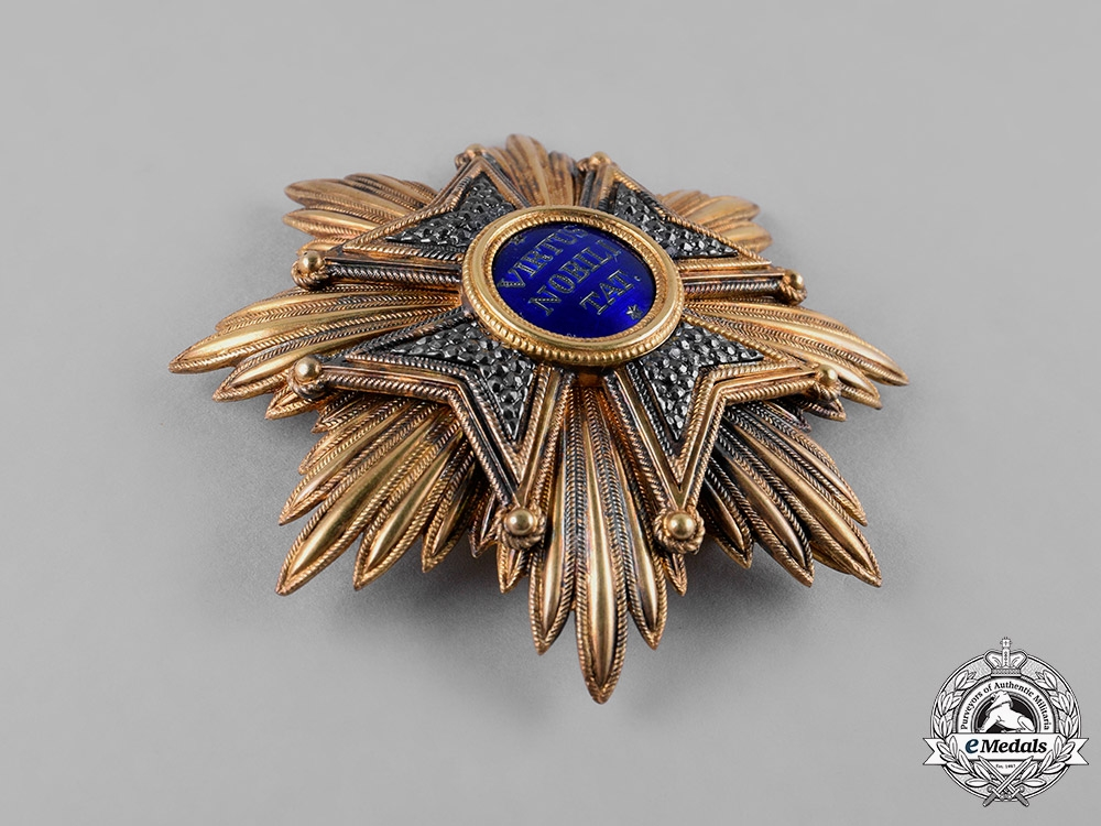 Netherlands, Kingdom. An Order of the Lion, Knight Grand Cross Star, c.1890