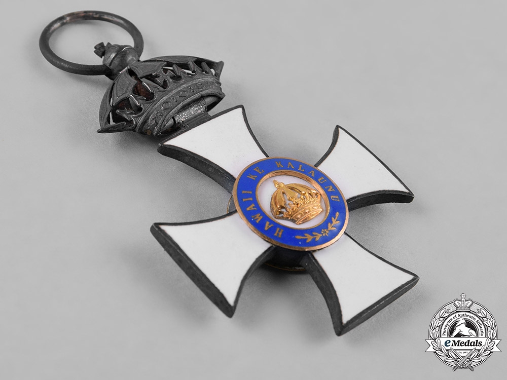 Hawai'i, Kingdom. An Order of the Crown, Companion's Badge, by Kretly, Paris, c.1885