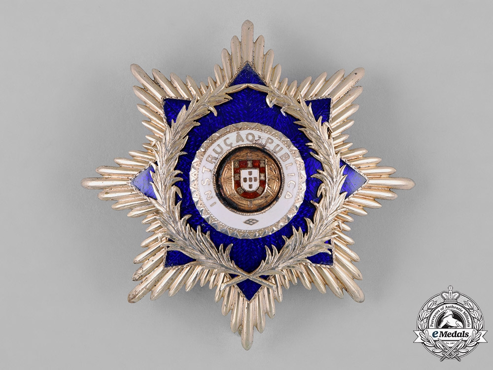 Portugal, Kingdom. An Order of Instruction & Benevolence, Grand Cross, by Frederico Costa, c.1930