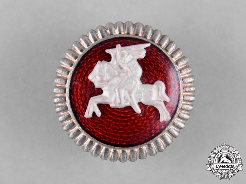Lithuania, Republic. A Vytis Army Cap Badge, c.1935