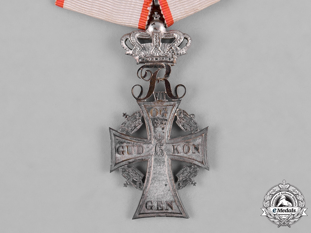 Denmark, Kingdom. An Order of Dannebrog, Silver Cross, Frederick VII, c.1850