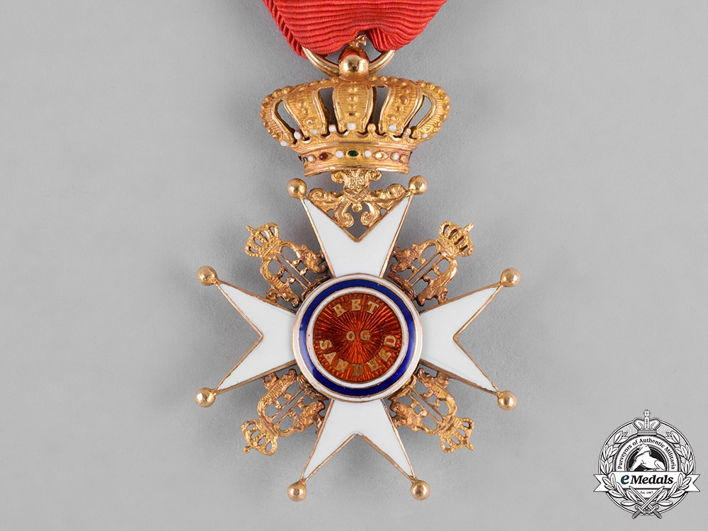Norway, Kingdom. A Royal Order of Saint Olaf in Gold, I Class Knight, c.1890