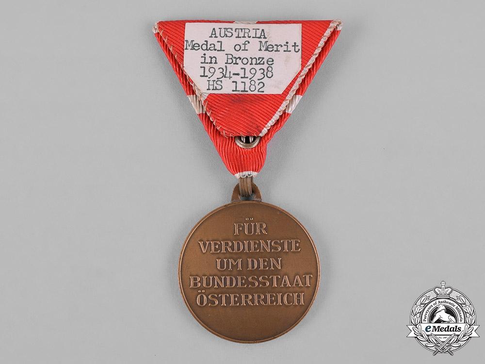 Austria, Republic. A Merit Order, Medal of Merit, Bronze Grade, c.1935