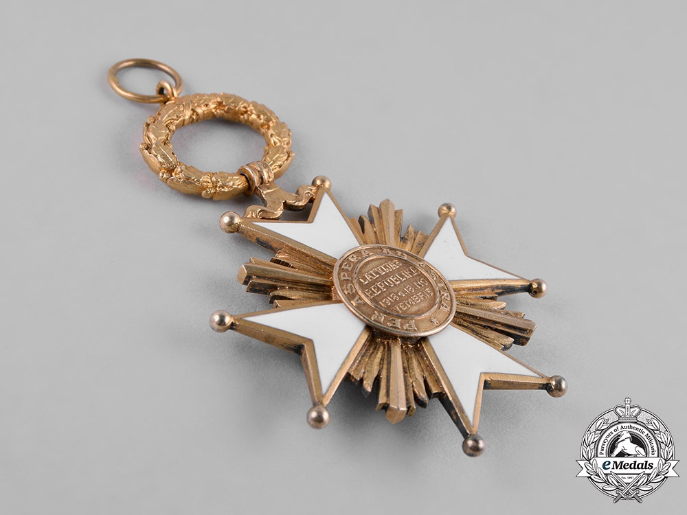 Latvia, I Republic. An Order of the Three Stars, Grand Cross, by W. F. Müller, c.1930
