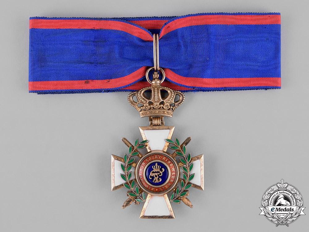 Oldenburg, Grand Duchy. A House & Merit Order of Peter Frederick Lewis, Grand Commander with Swords & Laurels, c.1918